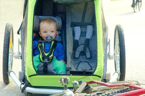 Babysicher Fahrradanhaenger