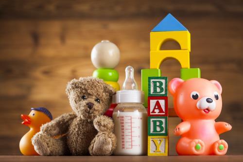 Babysicher Spiele- und Geschenkewelt